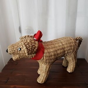 Other - Hand Made Straw Puppy Tight Knit Stand Alone